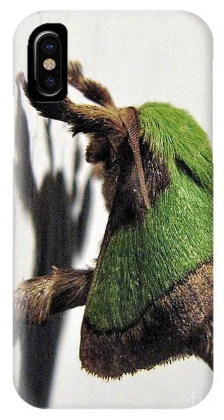 Green Hair Moth IPhone Case