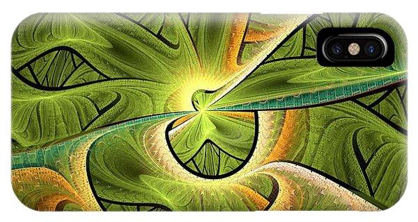 Fractal Landscape iPhone Case - Green Hills by Anastasiya Malakhova