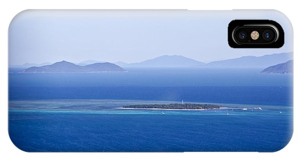 Green Island With Fitzroy Island In The Back Ground Phone Case by Debbie Cundy