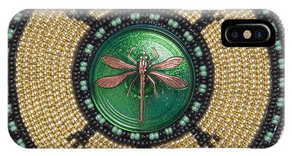 Green Jewel Dragonfly Turtle IPhone Case
