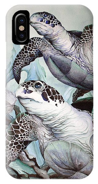 Green Loggerhead IPhone Case