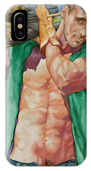 Green Lumberjack IPhone Case