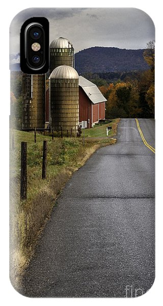 New England Barn iPhone Case - Green Mountain Country Roads by T-S Fine Art Landscape Photography