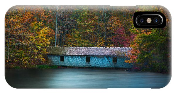 Green Mountain Covered Bridge Huntsville Alabama IPhone Case