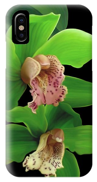 Green Orchids IPhone Case