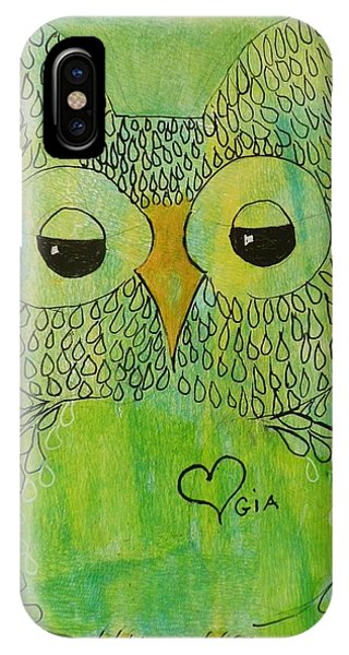 Green Owl IPhone Case