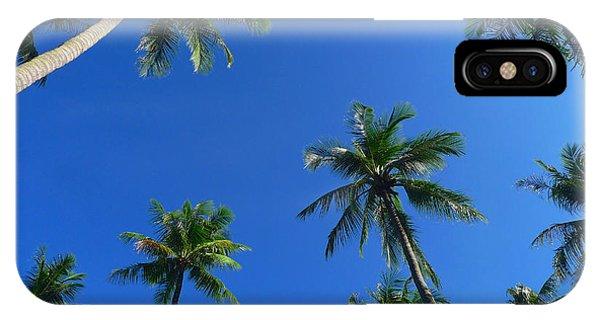 Green Palms Blue Sky IPhone Case