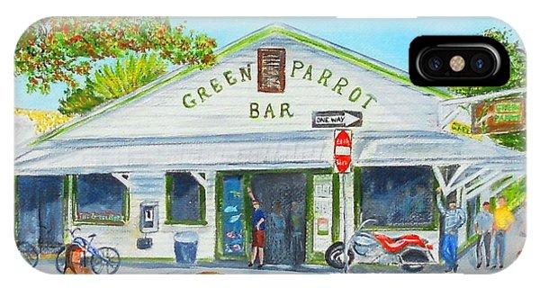Green Parrot Bar IPhone Case