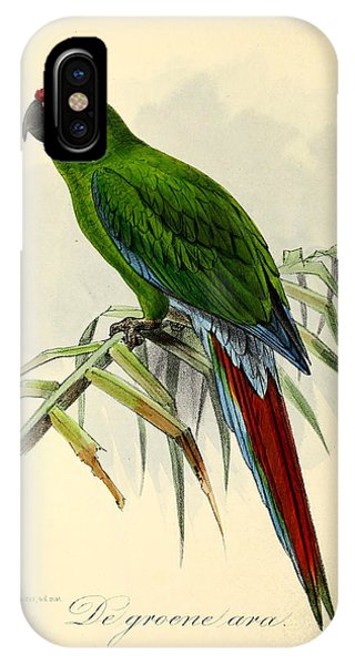 Green Parrot IPhone Case