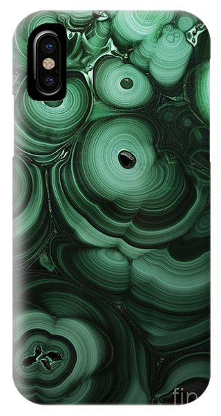 Green Patterns Of Malachite IPhone Case