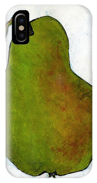 Green Pear On White IPhone Case