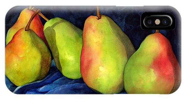 Red Fruit iPhone Case - Green Pears by Hailey E Herrera