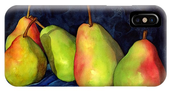 Pears iPhone Case - Green Pears by Hailey E Herrera