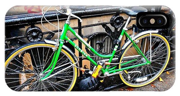 Green Schwinn Bike  Nyc IPhone Case