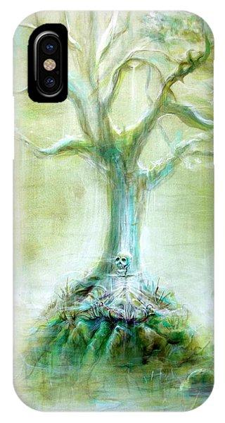 Green Skeleton Meditation IPhone Case