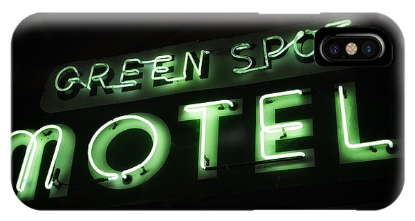 Green Spot Motel IPhone Case