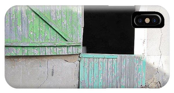 Green Stable Door IPhone Case
