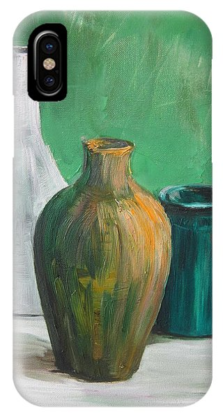 Green Still Life 2013 Phone Case by Maria Melenchuk
