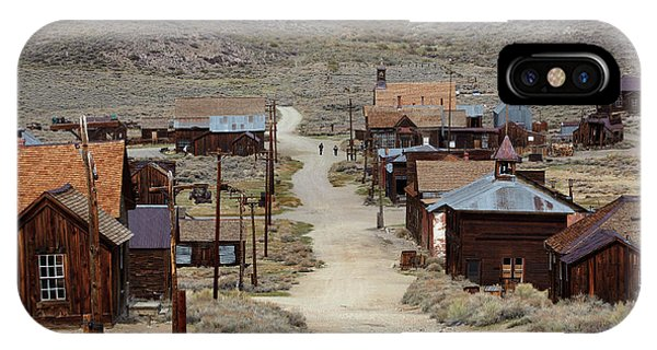 Bodie Ghost Town iPhone Case - Green Street, Bodie Ghost Town by David Wall