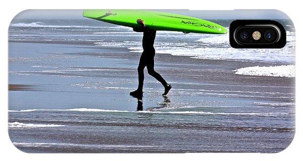 Green Surfboard IPhone Case