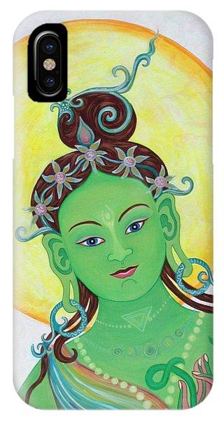 Green Tara Phone Case by Sarah Grubb