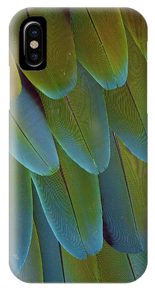 Green-winged Macaw Wing Feathers IPhone Case
