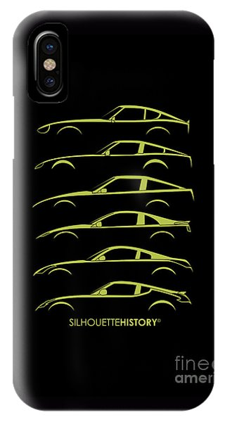 Nissan iPhone Case - Green Zee Silhouettehistory   by Gabor Vida