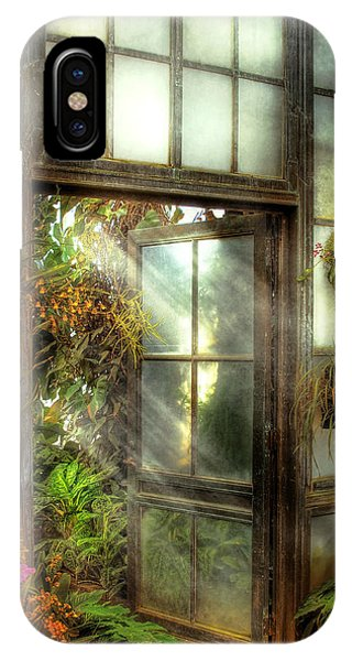 Savad iPhone Case - Greenhouse - The Door To Paradise by Mike Savad
