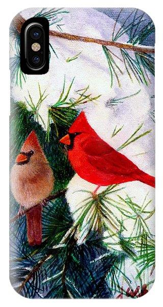 Greeting Cardinals IPhone Case