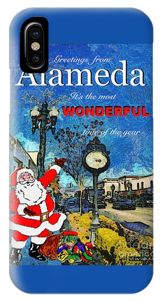 Alameda Christmas Greeting IPhone Case