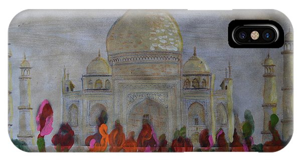Greeting From The Taj IPhone Case