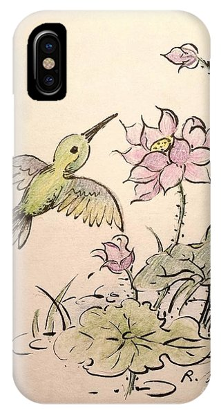 Greeting Hummingbird IPhone Case