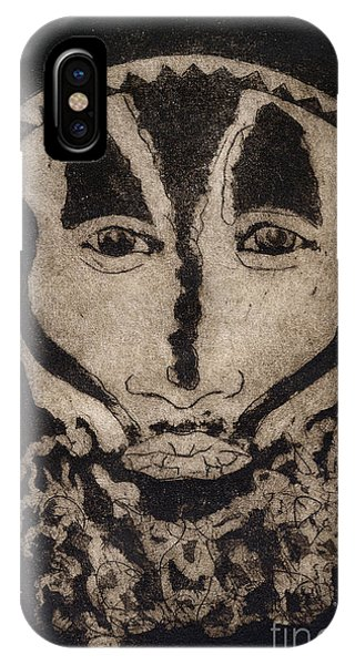 Greetings From New Guinea - Mask - Tribesmen - Tribesman - Tribal - Jefe - Chef De Tribu IPhone Case