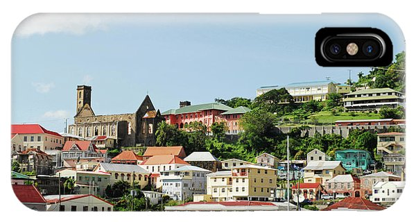 Catamaran iPhone Case - Grenada, St George, Carenage, View by Anthony Asael