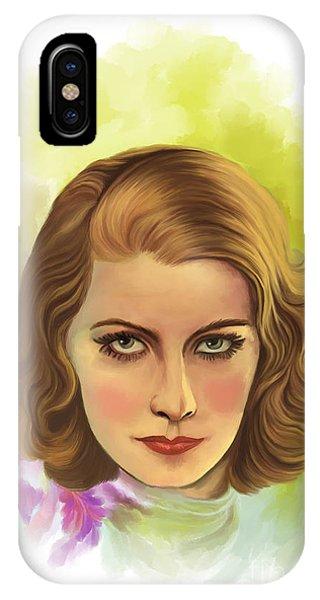 Greta Garbo IPhone Case
