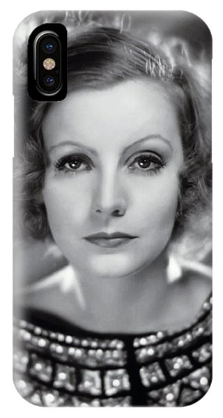 Leading Actress iPhone Case - Greta Garbo by Daniel Hagerman