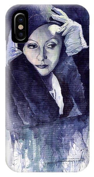 Portret iPhone Case - Greta Garbo by Yuriy Shevchuk