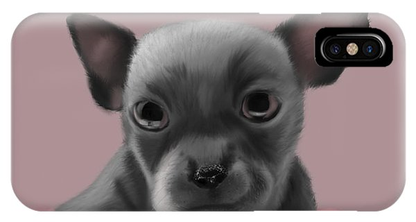 Grey Chihuahua In The Pink IPhone Case