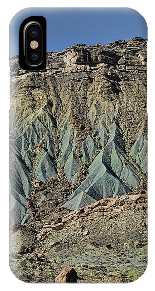 Grey Cliffs In Waterpocket Fold  IPhone Case