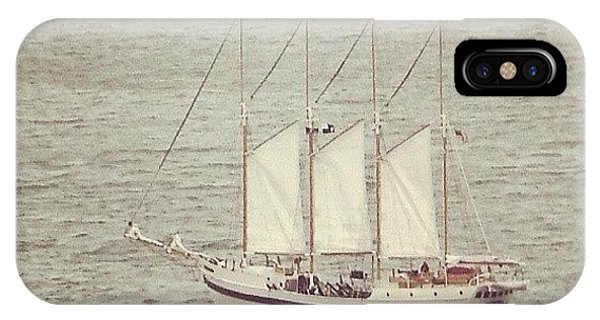 Transportation iPhone Case - Gray Day And A Tall Ship by Jill Tuinier