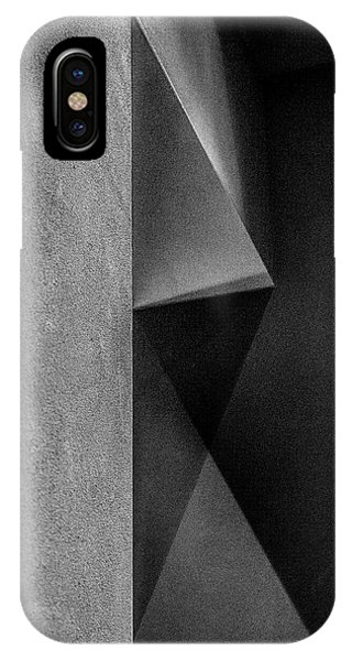 Angle iPhone X Case - Grey Shadows by Inge Schuster