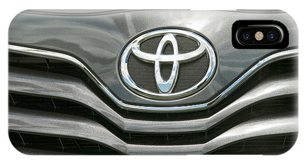 Grey Toyota Grill And Emblem Smile IPhone Case