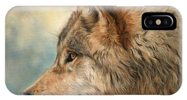 Grey Wolf 3 IPhone Case
