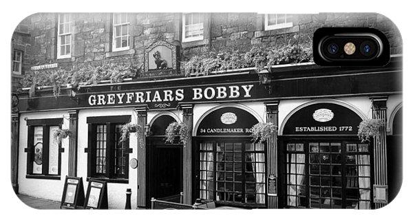 Greyfriars Bobby In Edinburgh Scotland  IPhone Case