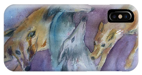 Greyhounds Having A Meeting IPhone Case