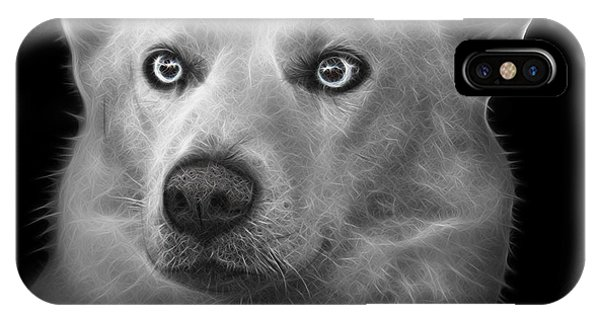 Greyscale Mila - Siberian Husky - 2103 - Bb IPhone Case