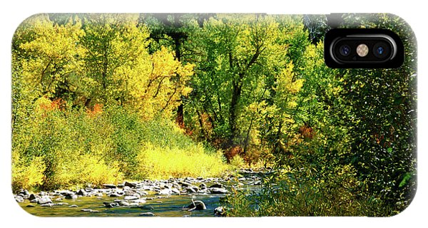 Grimes Creek Autumn Boise County Idaho IPhone Case