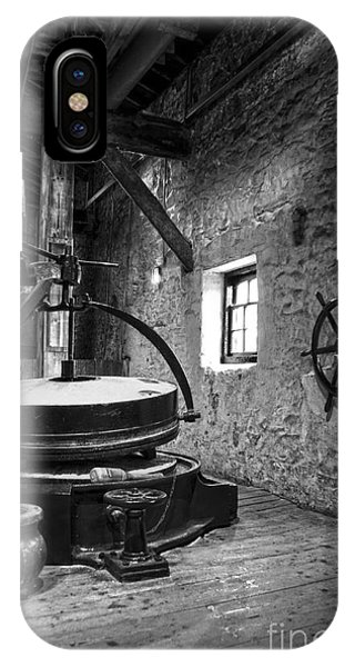 Grinder For Unmalted Barley In An Old Distillery IPhone Case