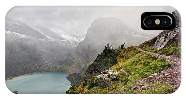 Hiking Path iPhone Case - Grinnell Glacier Trail by Mark Kiver