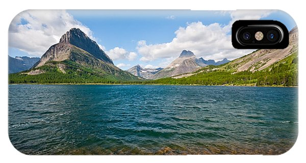 Grinnell Point From Swiftcurrent Lake IPhone Case